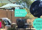 My Back Patio with the Newair Misting Fan