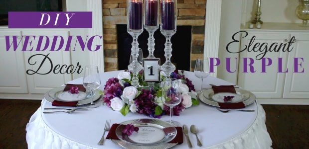 Elegant DIY Wedding Centerpieces | Purple Wedding Decoration Ideas